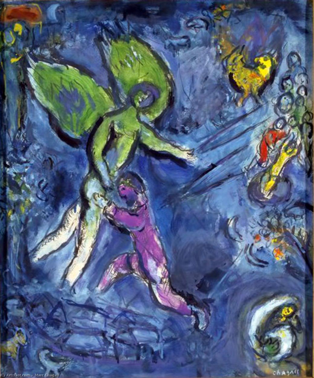 Jacob lutte avec l'ange (March Chagall)