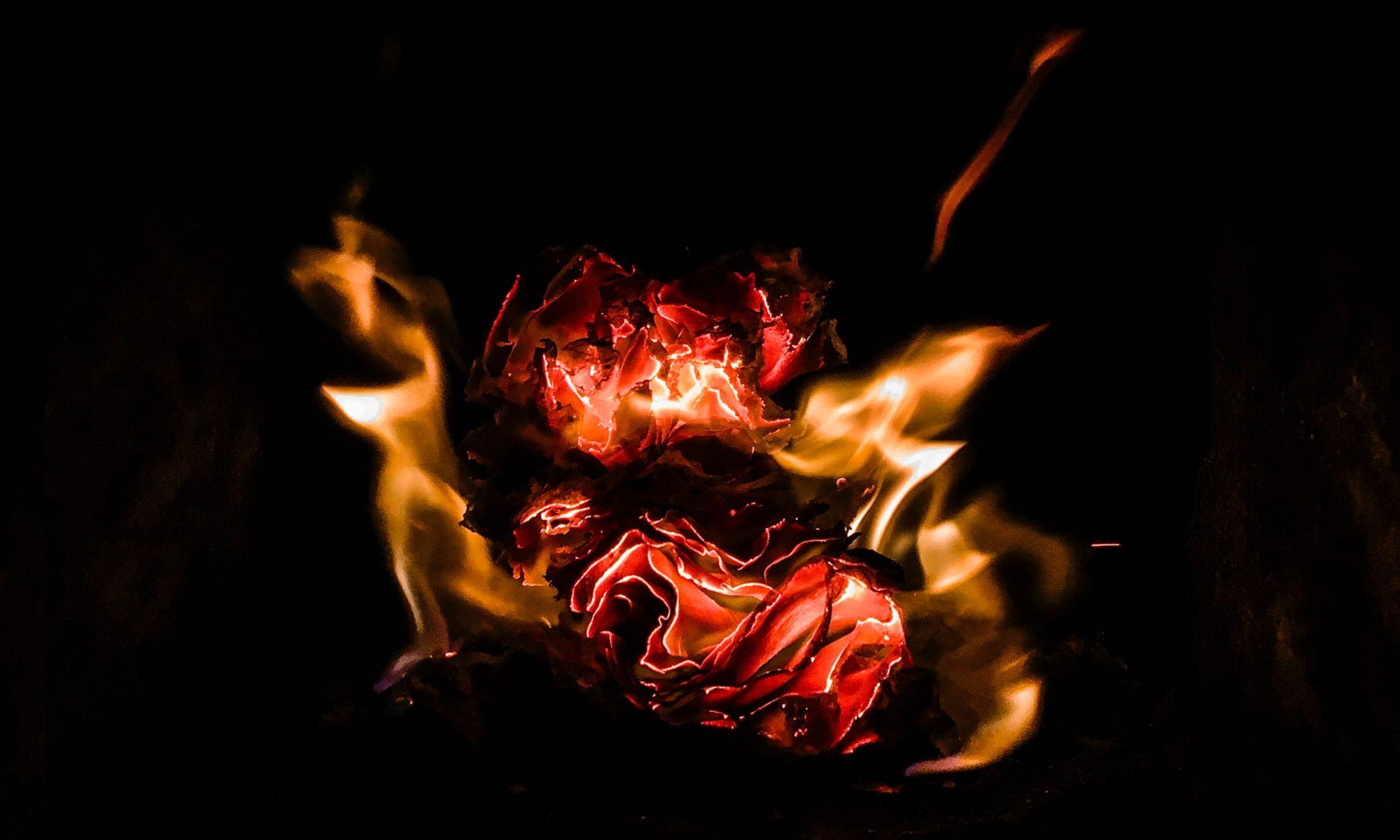 Flamme dans le noir